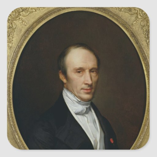 Portrait of Louis Cauchy Square Sticker