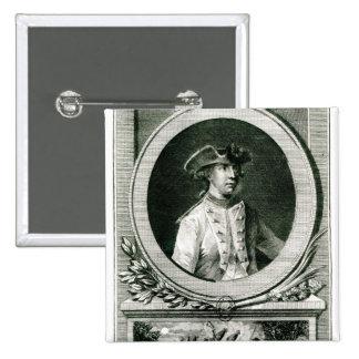 Portrait of Louis, chevalier d'Assas Pinback Button