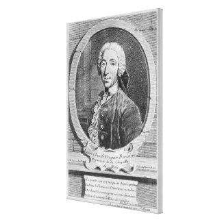Portrait of Louis-Claude d'Aquin Canvas Print