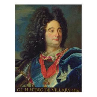 Portrait of Louis-Claude-Hector  Duke of Postcard