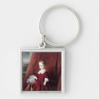 Portrait of Louis d'Orleans, 1845 Silver-Colored Square Keychain