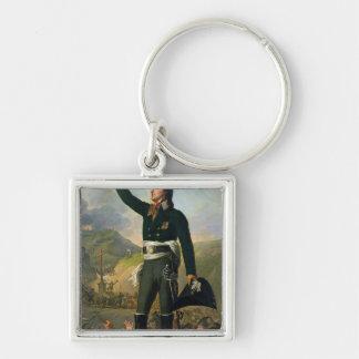 Portrait of Louis-Marie de Salgues  Marquis Silver-Colored Square Keychain