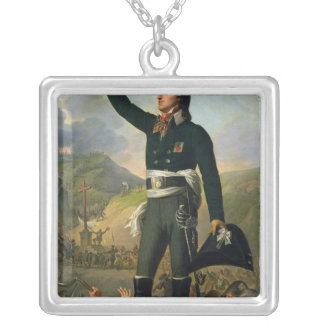 Portrait of Louis-Marie de Salgues  Marquis Silver Plated Necklace