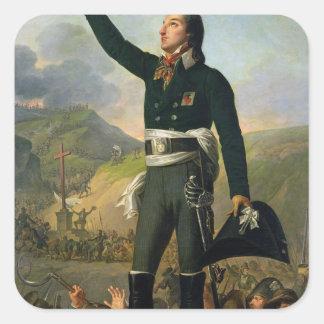 Portrait of Louis-Marie de Salgues  Marquis Square Stickers