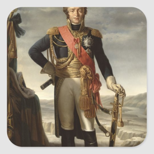 Portrait of Louis Nicolas Davout Square Sticker