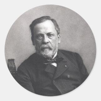 Portrait of Louis Pasteur by Nadar (Date pre-1885) Classic Round Sticker