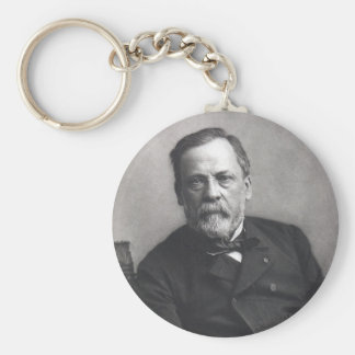 Portrait of Louis Pasteur by Nadar (Date pre-1885) Keychain