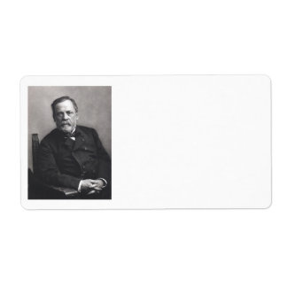 Portrait of Louis Pasteur by Nadar (Date pre-1885) Label