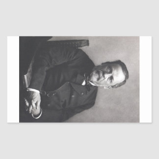 Portrait of Louis Pasteur by Nadar (Date pre-1885) Rectangular Sticker