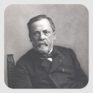 Portrait of Louis Pasteur by Nadar (Date pre-1885) Square Sticker