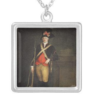 Portrait of Louis-Philippe-Joseph d'Orleans Silver Plated Necklace