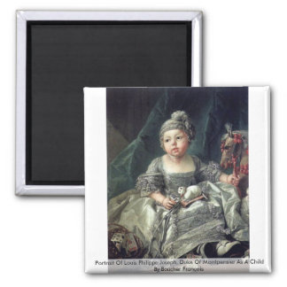 Portrait Of Louis Philippe Joseph 2 Inch Square Magnet