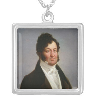 Portrait of Louis-Philippe  King of France Silver Plated Necklace