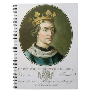 Portrait of Louis VIII, Called 'Le Lion', King of Notebook