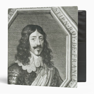 Portrait of Louis XIII  engraving by Jean Morin 3 Ring Binder
