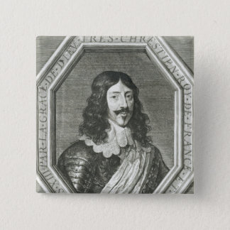 Portrait of Louis XIII  engraving by Jean Morin Button