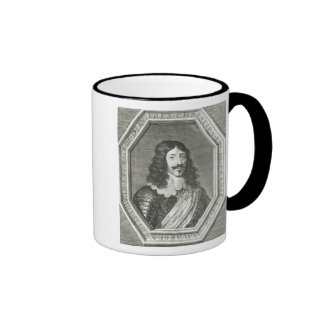 Portrait of Louis XIII  engraving by Jean Morin Ringer Coffee Mug