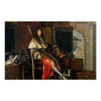 Portrait of Louis XIV  1668 Poster