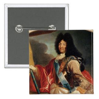 Portrait of Louis XIV 2 2 Inch Square Button