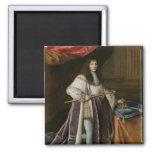 Portrait of Louis XIV 2 Inch Square Magnet