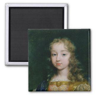 Portrait of Louis XIV as a child 2 Inch Square Magnet