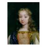 Portrait of Louis XIV as a child Postcard