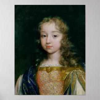 Portrait of Louis XIV as a child Poster