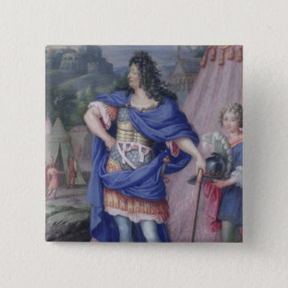 Portrait of Louis XIV  King of France Button