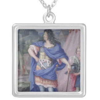 Portrait of Louis XIV  King of France Silver Plated Necklace