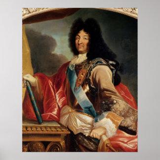 Portrait of Louis XIV Poster