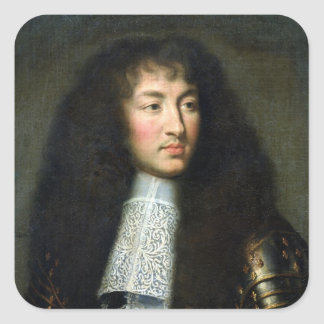 Portrait of Louis XIV Square Sticker