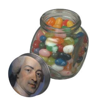 Portrait of Louis XV,France by Maurice de La Tour Jelly Belly Candy Jars