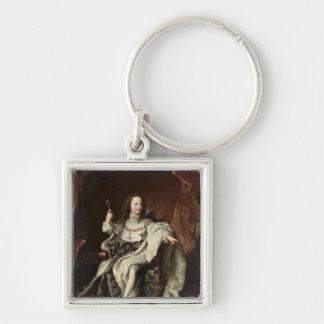 Portrait of Louis XV  in Coronation Robes, 1715 Keychain