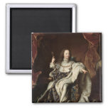 Portrait of Louis XV  in Coronation Robes, 1715 2 Inch Square Magnet