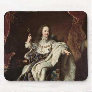 Portrait of Louis XV  in Coronation Robes, 1715 Mouse Pad