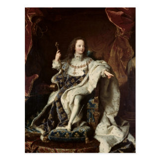 Portrait of Louis XV  in Coronation Robes, 1715 Postcard