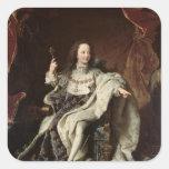 Portrait of Louis XV  in Coronation Robes, 1715 Square Sticker