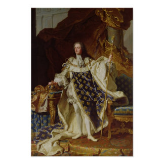 Portrait of Louis XV in his Coronation Robes Poster