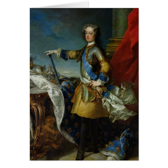 Portrait of Louis XV  King of France, c.1727 Card
