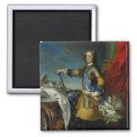 Portrait of Louis XV  King of France, c.1727 Refrigerator Magnet