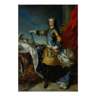 Portrait of Louis XV  King of France, c.1727 Poster
