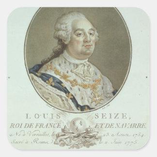 Portrait of Louis XVI (1754-93) from 'Portraits de Square Sticker
