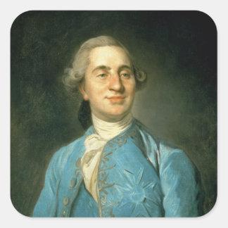Portrait of Louis XVI  1775 Square Sticker