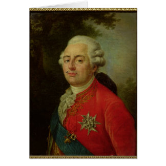 Portrait of Louis XVI  King of France Card