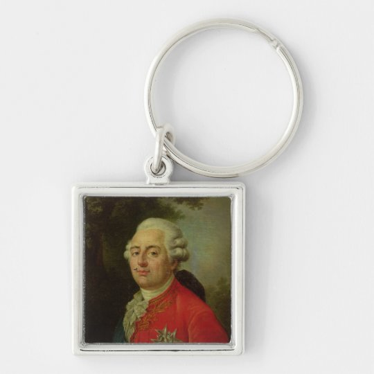 Portrait of Louis XVI  King of France Keychain