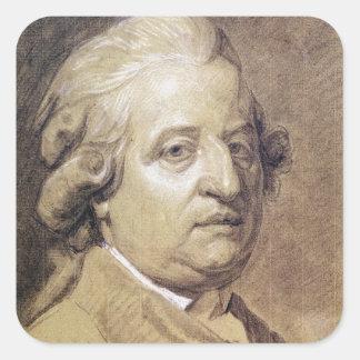 Portrait of Louis XVI  King of France Square Sticker