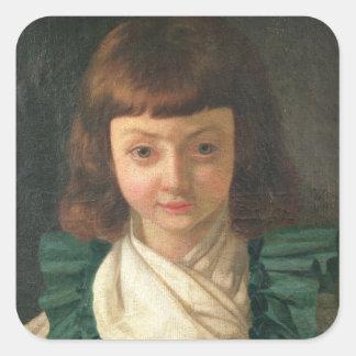 Portrait of Louis XVII  as a child, 1791 Square Sticker