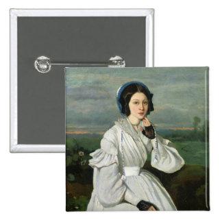 Portrait of Louise Claire Sennegon 2 Inch Square Button