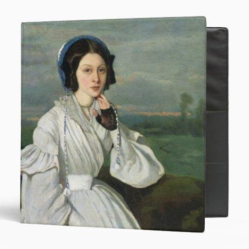 Portrait of Louise Claire Sennegon Vinyl Binder