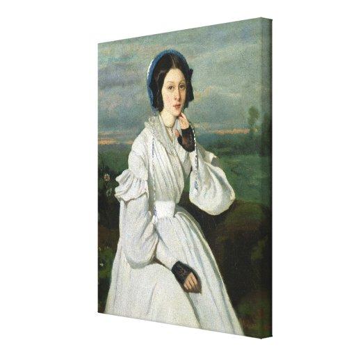 Portrait of Louise Claire Sennegon Canvas Print